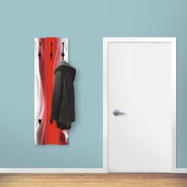 image-Finulf Wall Mounted Coat Rack Brayden Studio Colour: Red
