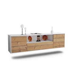 "image-Grajeda TV Stand for TVs up to 78"" Ebern Designs Colour: White/Pine"