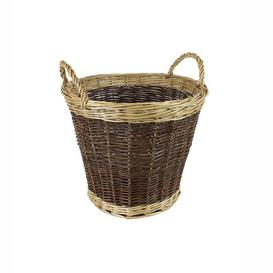 image-Two Tone Log Willow Basket Brambly Cottage