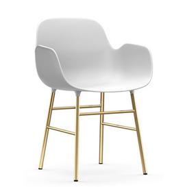 image-Form Armchair - / Brass foot by Normann Copenhagen White/Gold