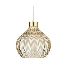 image-Herringbone Large Easy Fit Glass Pendant