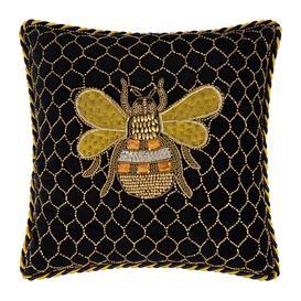image-MacKenzie-Childs - Velvet Queen Bee Cushion - 35x35cm