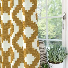 "image-Arizona Geometric Yellow Curtains, 534cm(w) x 137cm(d) (210"" x 54"")"