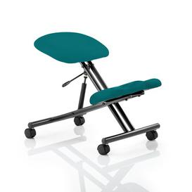 image-Ortegon Height Adjustable Kneeling Chair Brayden Studio Colour: Maringa Teal