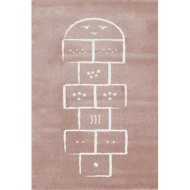 image-Hopscotch Pink/White Rug Art for kids Rug Size: Rectangle 135 x 190cm