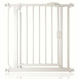 image-Imogen Safety Gate Symple Stuff Colour: White, Size: 125.4cm - 132.4cm