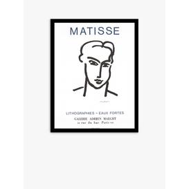 image-Galerie Maeght - Henri Matisse Eaux Fortes 1964 Exhibition Poster Framed Print, 70 x 53.5cm, Black/White