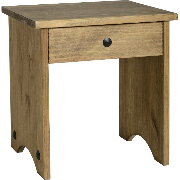 image-Corona Dressing Table Stool in Pine