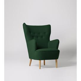 image-Swoon Ludwig Armchair in Hunter Smart Wool With Light Feet
