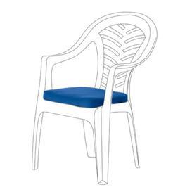 image-Resol Palma Garden Dining Chair Cushion Dakota Fields Colour: Blue