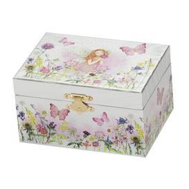 image-Fairy Foil Jewellery Box Fleur De Lis Living