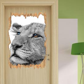 image-Sleepy Lion Cub Wall Sticker