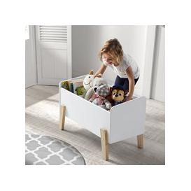 image-Kiddy Wooden Kids Toy Box in White