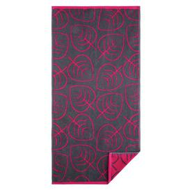image-Lina Hand Towel Egeria Colour: Raspberry