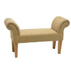 image-Fallston Upholstered Bedroom Bench Ophelia & Co. Upholstery: Bacio Hessian, Finish: Beech