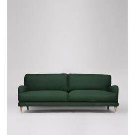 image-Swoon Charlbury Three-Seater Sofa in Hunter Smart Wool With Light Feet