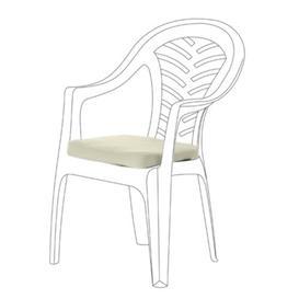 image-Resol Palma Garden Dining Chair Cushion Dakota Fields Colour: Stone