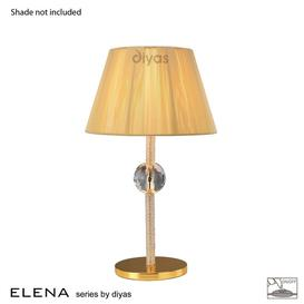 image-IL30520 Elena Gold And Crystal Cloth Table Lamp Base Only