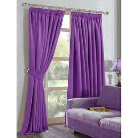 image-Blake Pencil Pleat Blackout Curtain Marlow Home Co. Size per Panel: 165 W x 214 D cm, Colour: Purple