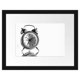 image-'Pink Alarm Clock' Framed Photographic Poster East Urban Home Size: 30cm H x 38cm W