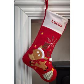 image-Personalised Light-Up Rudolph Stocking