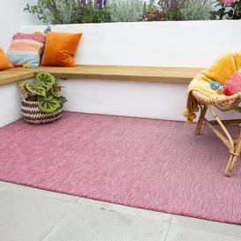 image-Raspberry Mottled Indoor  Outdoor Rug - Patio