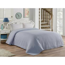 image-Magers Bedspread Ebern Designs Size: W220 x L260cm, Colour: Blue