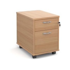 image-Tully Mobile Pedestals, Beech, Free Standard Delivery