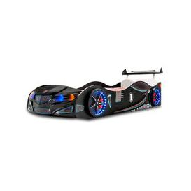 image-BMW GTI Childrens Car Bed In Black With Spoiler And LED