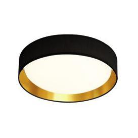 image-Modern 1 Light LED Flush Ceiling Light In Black And Gold