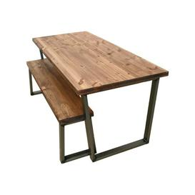 image-Gast Dining Table Williston Forge Table Top Colour: Rustic Brown, Size: 75 x 180 x 90cm