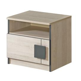 image-Gumi G12 Bedside Cabinet - Oak Santana 45cm
