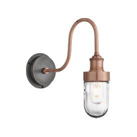 image-Industville Swan Neck Outdoor & Bathroom Wall Light - Copper