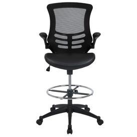 image-Ergonomic Mesh Draughtsman Chair Blue Elephant Upholstery Colour: Black