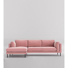 image-Swoon Munich Left Corner Sofa in Blush Easy Velvet