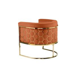 image-Alveare tub chair Brass - Orange