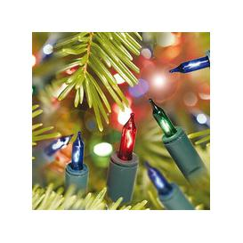 image-20, 40, 100 Shadeless Multicoloured Christmas Fairy Lights with Green Cable [20]