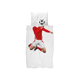 image-Snurk Childrens Football Duvet Bedding Set in Red