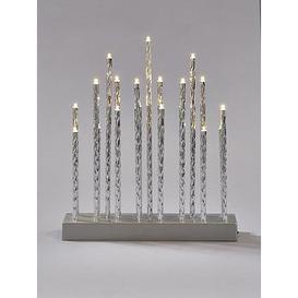 image-Silver Tube Table Lights Christmas Decoration