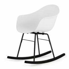 image-Ta Er Rocking Chair - Cream Armchair - Chrome Frame Blatt Colour: White