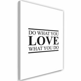 image-'Cover - Do What You Love' - Wrapped Canvas Typography Print Happy Larry Size: 90cm H x 60cm W x 3cm D