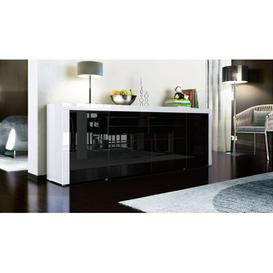 image-La Paz Sideboard Vladon Body/Front colour: White (glossy)/Black(glossy)/White (glossy)