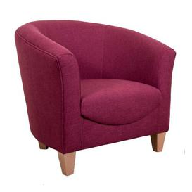image-Rio Tub Chair J H Classics Upholstery: Bacio Mercury, Frame Finish: Mahogany