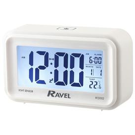 image-Cromley Jumbo Display Digital Alarm Clock Ravel Finish: White