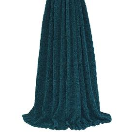 image-Knitted Teal Throw