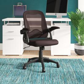 image-Wakefield Ergonomic Mesh Desk Chair Blue Elephant Upholstery Colour: Brown