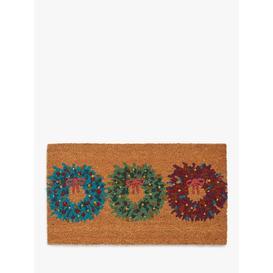 image-John Lewis & Partners Wreath Trio Christmas Door Mat