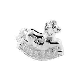 image-Bambino Silver Plated Rocking Horse Money Box