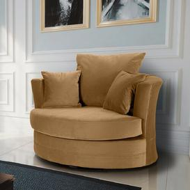 image-Ashburt Swivel Tub Chair Canora Grey Upholstery Colour: Old Gold