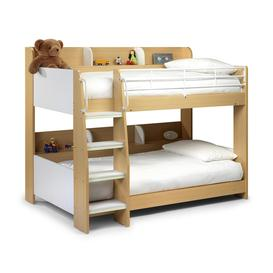 image-Julian Bowen Furniture Domino Maple and White Bunk Bed